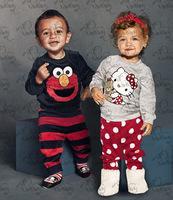 2014 New children boy girl clothing Cartoon kids pajama sets Hello kitty 100%cotton long sleeve clothing set wholesale&retail