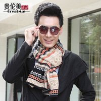 Fashion embroidery male thick yarn scarf thermal knitted scarf male muffler scarf