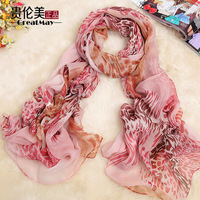 National ultralarge trend faux silk long design silk scarf spring and autumn women's cape dual use scarf