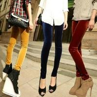 New 2014 Leggings For Women Arrival Casual Warm Velvet Legging Knitted Thick Slim Leggings Super Elastic