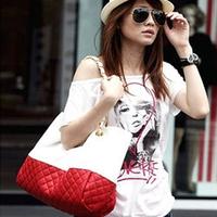 HOT!!!!  PU leather fashion with colored Lozenge shoulder bag Women's Messenger Bags Woman  Handbag Bag