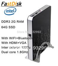 mini pcs with intel  celeron 1037U  dual core 1.8GHz   witrh WIFI and Bluetooth support XP/windows 7