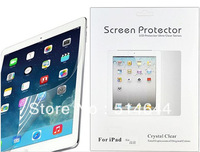 Wholesale - Professional Clear Anti-dust screen Guard Screen Protector for ipad 2 3 4 5 ipad Air 100pcs/lot with retail package