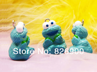 10 pieces Sesame Street Cookie Monster Charm Pendant Figurine DIY Accessories ASE910 Wholesale