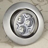 3W high power LED ceiling spotlights frame HD-601SN Satin nickel Kitchen,Dining Room, Bed romm,Foyer, study