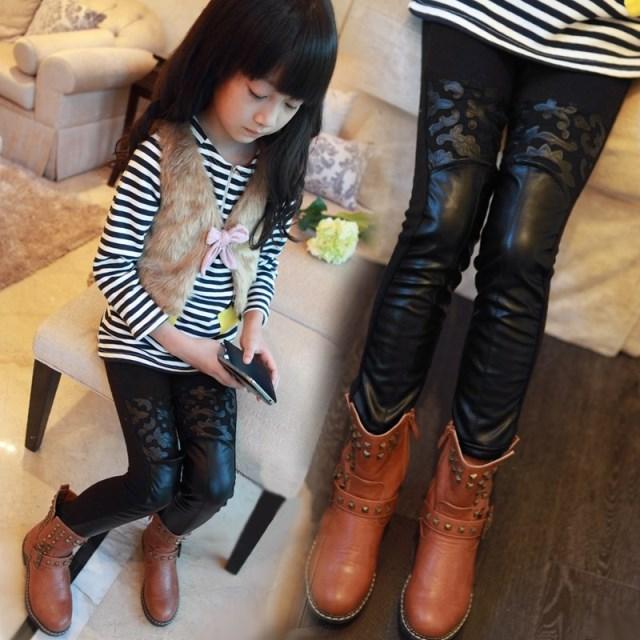 Девушка новых детей брюки плюс бархат
