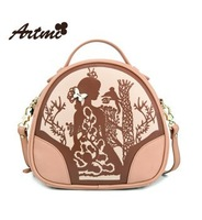 Artmi2014  New Arrive spring vintage print women's handbag casual fashion Oil painting brand design cross-body bag Free Shipping
