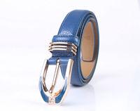 Ladies Rhinestone Buckle Genuine Leather Belt Waistband (7 Colours)