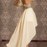The new foreign trade sequined ladies irregular double chest wrapped skirt