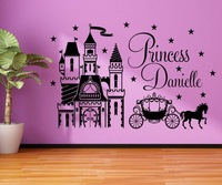 Cartoon Fairy Tale Dream Castle Carriage Children Room Wall Stickers Large