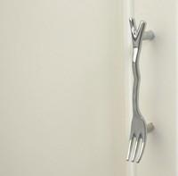 Novelty Silver Fork Handle Cupboard Cabinet Drawer Door Knob Pulls MBS201-5
