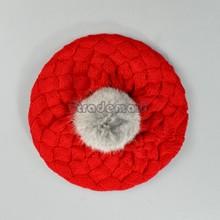 2014 Autumn winter Girl /Boy New Children Warm Winter Knitting Wool Crochet Beanie Hat Soft Nap Baby Cap 3Colors 5400(China (Mainland))