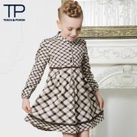 new fashion belt design winter dress with full sleeve for girls (TGQ1308028)