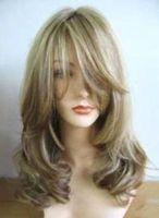 F35 charming Women's mixde wig Kanekalon Hair wigs