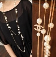 Hot minimalist fashion necklace wholesale noble temperament wild black and white
