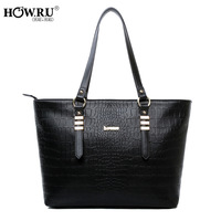 Howru 2013 brief elegant bag crocodile pattern sewing thread female bags handbag