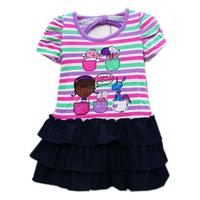 free shipping girl girls Doc Mcstuffins short sleeve summer dress dresses 4pcs/lot