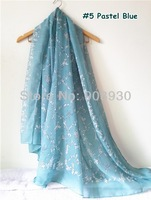 2014 New Fashion Women Scarf Shawl Garden Animal Birds and Plant Natural Design Pastel Soft Color Hijab Free Shipping