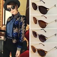 Europe retro sunglasses color ayomi show metal arrow round Flower stone sunglasses UV protective eyewear free shipping YJ5026