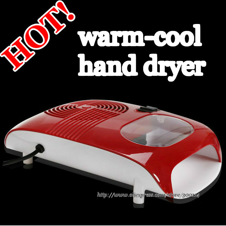 wholesale professional nail art beauty warm-cool nail / hand dryer machine gel polish drying set 12pcs/lot free EMS/DHL shipping(China (Mainland))