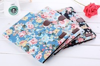 2014 Flower Magnetic PU Leather Case Cover With Card Slots Holder Stand case for Samsung Galaxy note  Edition P600 P601
