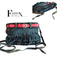 cute fashion shoulder bags princess denim skirt bag children handbag casual bag  messenger bag for girls kids baby child korean