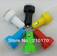 100 pcs 2.1A + 1A Dual USB Car Charger for iPhone 4 and Cell Phone / PDA / Mp3 / Mp4