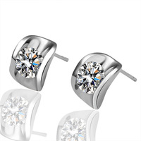 Free Shipping,E022 18K white gold plated  Earring simple shaped drop fashion Earrings,austria crystal earrings