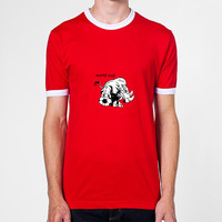 Soccer Rhino  For 2014 World Cup Newest 100% Cotton Short Sleeve Mens Tshirt  Wholasale And Retail