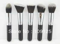 5 PCS Synthetic Kabuki Makeup Brush Set Cosmetics Foundation blending blush new