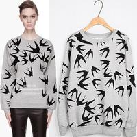 HP-07 Women's fashion Thickening Loose Long-sleeve pullover sweatshirt Women sportswear harajuku sweatshirt Sports printed
