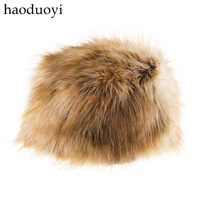 Free shipping Faux hat silks and satins lining beige fur wool 3 full haoduoyi  Wholesale and retail