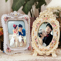 Quality fashion resin photo frame 6 7 photo frame marry lovers child deluxe swing sets box