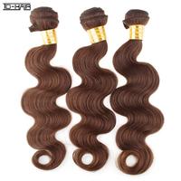100% Human Hair Weaves Remy Brazilian Virgin Hair Extension Body Wave 3pcs lot Color 4# Aliexpress TD HAIR