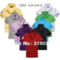 New 2014 Knight Summer T shirt Tops Men clothing Fashion Tees Embroidery Horse Sport shirt Drop shipping MOQ 1pc