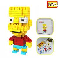 The Simpsons Bart Simpson LOZ Diamond Nano Mini Building Blocks Enlighten Bricks