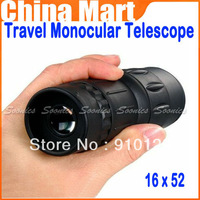 HOT 16 x 52 Dual Focus Zoom Green Optic Lens Armoring Travel Monocular Telescope