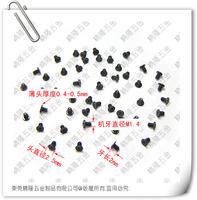 1.4*2 M1.4*2 1.4*2CM CM1.4*2 M1.4*2CM Flat thin round head philips micro machine screw CM black zinc