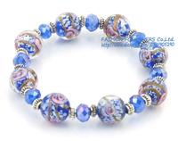 Christmas Gift Women Fashion Jewelry Handmade Elastic Multicolour Glaze Beads Bracelets Free Shipping MDA08