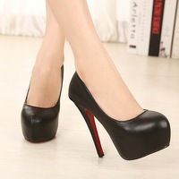 14cm high-heeled shoes sexy ultra high heels platform shoes female spring and autumn thin heels women's shoes