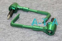 Free Shipping! CNC Adjustable Proguard System Protector Brake Clutch Lever Guards For Universal Motorcycle Racing Bike Green