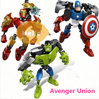 Genuine kids Assembled Educational blocks, funny children movie characters toys, Captian/iron man/hulk,3 in 1+ free shipping
