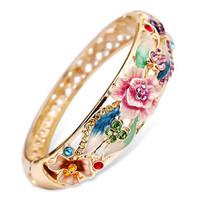 Cloisonne  Vintage Trend Bracelet China National Cutout Enamel Gold Plated Bracelet Chinese Traditional Handcraft 2014 Newest