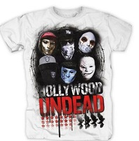 HOLLYWOOD UNDEAD Europe and the United States Hip hop rap Men's short sleeve T-shirt Pure cotton Round collar Summer wear