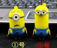 10pcs/lot Plastic Cartoon Minions 1 2 pendrive 1gb-32gb bulk 1 2 Minions usb flash drive flash memory stick pendrive