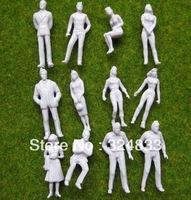 Model 1:87 UnPainted Figures HO scale model trains scale white figure