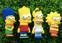 10pcs/lot Cartoon simpson USB Flash Drive 1GB 2GB 4GB 8GB 16GB 32GB USB Flash Drive USB Pen