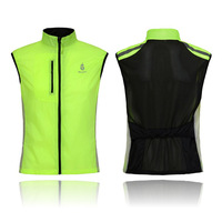 WOLFBIKE Cycling Sportswear Men Jerseys Cycle Clothing Windcoat Breathable Bike Jacket Sleeveless Vest Green