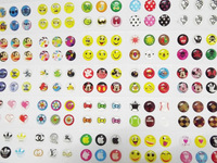 Home Button Sticker For i phone 4 S 5 S I PAD Mobile Smartphone Cellphone Tablet PC Children Sticker Phone DECOR 300 pcs/lot