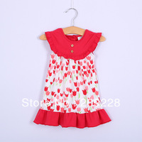 free shipping 5pieces/lot 100% cotton sleeveless sweet baby dress princess